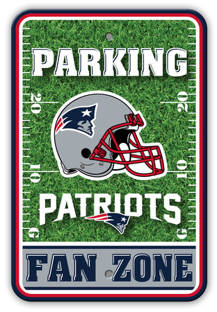 New England parking field zone wall sign