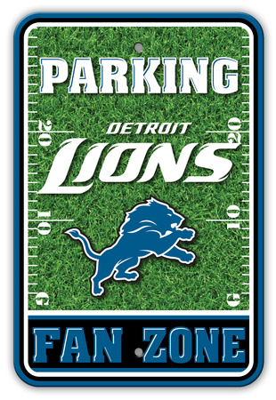 NFL Detroit Lions Field Zone Parking Sign Wall Sign