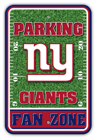 NFL New York Giants Field Zone Parking Sign Wall Sign