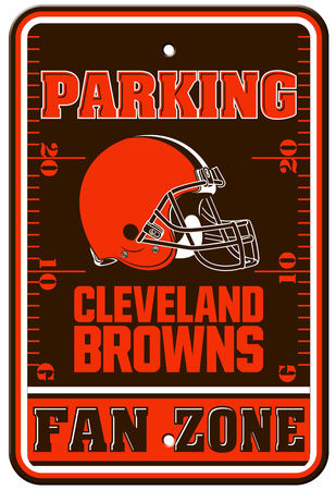 NFL Cleveland Browns Fan Zone Parking Sign Wall Sign
