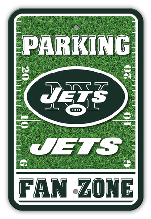 NFL New York Jets Field Zone Parking Sign Wall Sign