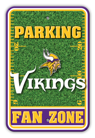 NFL Minnesota Vikings Field Zone Parking Sign Wall Sign