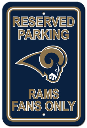 NFL Los Angeles Rams Reserved Parking Sign Wall Sign