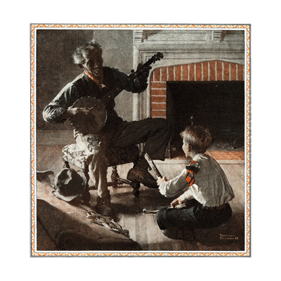 The Banjo Player Giclee Print by Norman Rockwell