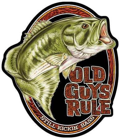 Old Guys Rule Bass Tin Sign