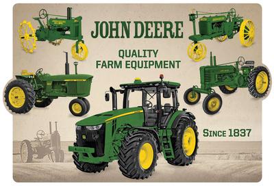 John Deere Collage Tin Sign