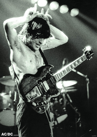 AC/DC- Angus Young at Leicester Demontfort Hall, 1979 Print