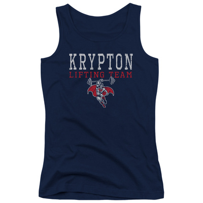 Juniors Tank Top: Superman – Krypton Lifting Team T-Shirt