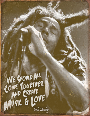 Bob Marley - Music & Love Tin Sign