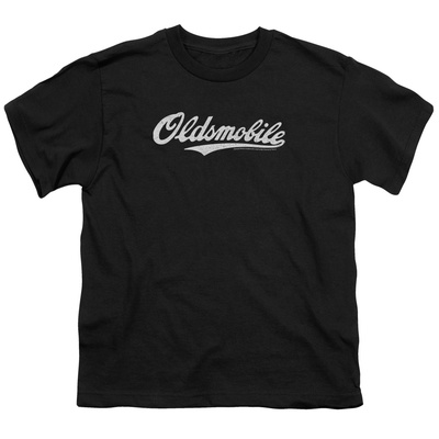 Youth: Oldsmobile- Distressed Script Logo Shirts