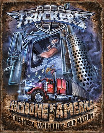 Truckers - Backbone Tin Sign