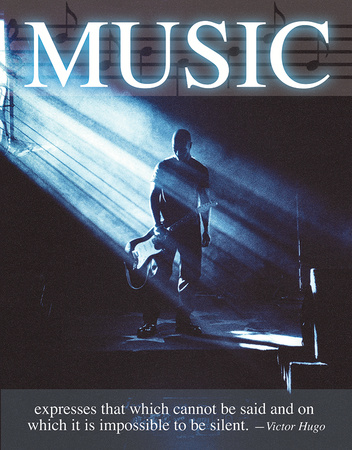 Music - Victor Hugo Tin Sign