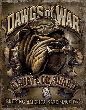 Dawgs of War Tin Sign