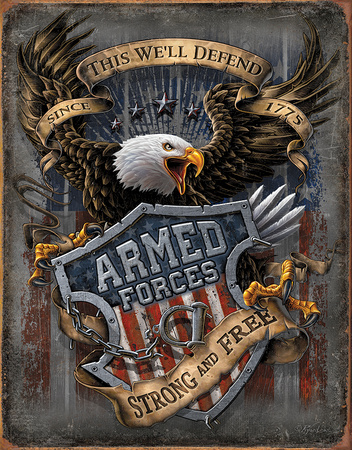 Armed Forces - since 1775 Tin Sign