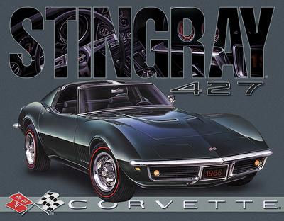 Corvette - 1968 Stingray Tin Sign