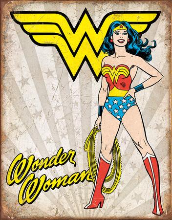 Wonder Woman Heroic Tin Sign
