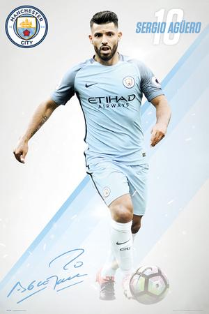 Manchester City- Sergio Aguero 16/17 Prints