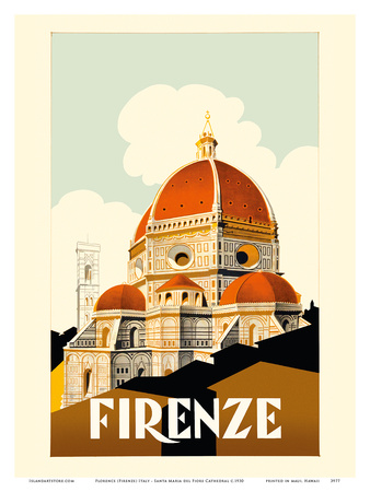 Florence (Firenze) Italy - Santa Maria del Fiore Cathedral, the Duomo of Florence Prints by  Pacifica Island Art