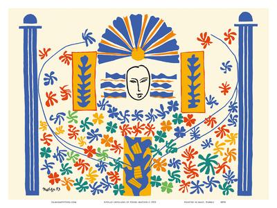 Apollo (Apollon) - Artist Model for a Ceramic Tile Mural Prints by Henri Matisse