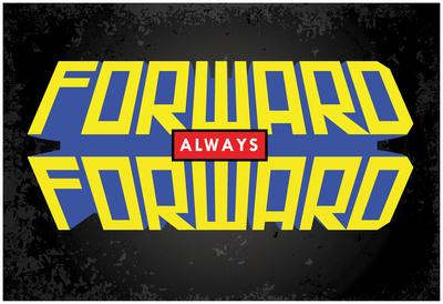 Forward Always Forward Power Block (Horizonal) Plakát