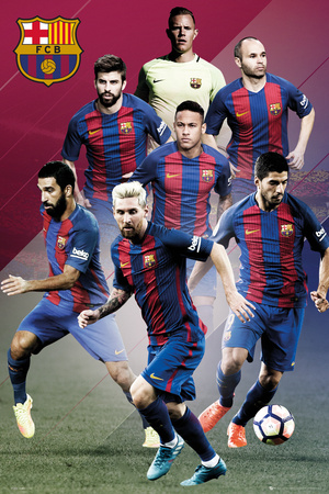 FC Barcelona- Players 16/17 Posters