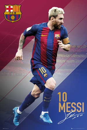 FC Barcelona- Messi 16/17 Prints