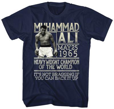 Muhammad Ali- Back Up The Claim Shirt