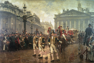 Sir James Whitehead's Procession, 1888 Giclee Print by William Logsdail