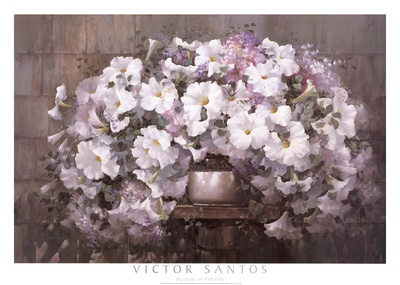 Bouquet of Petunias Poster by Victor Santos