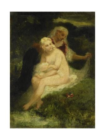 After the Bath, 1860-76 Giclee Print by Narcisse Virgile Diaz de la Pena