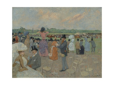 The Races at Longchamp, 1891 Giclee Print by Jean Louis Forain