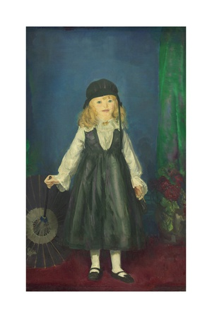Anne with a Japanese Parasol, 1917 Giclee Print by George Bellows