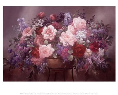 Floral Masterpiece Prints by Victor Santos