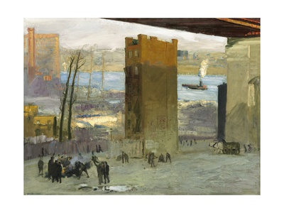 The Lone Tenement, 1909 Giclee Print by George Bellows