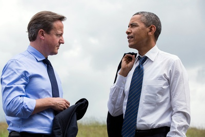 President Barack Obama and Prime Minister David Cameron at the G8 Summit Photo