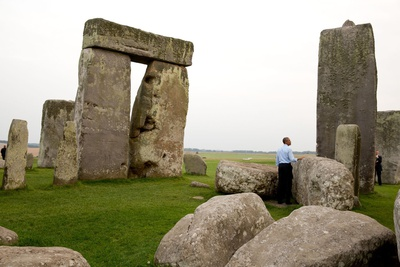 President Barack Obama at Stonehenge after the Nato Summit in Wales Photo