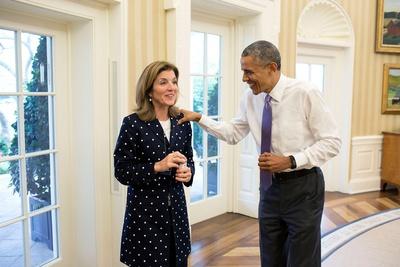 President Barack Obama with Caroline Kennedy, U.S. Ambassador to Japan Photo