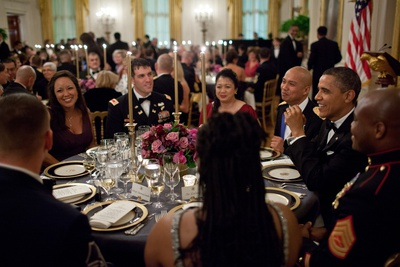 President Barack Obama's Table at the Department of Defense Dinner, Feb. 29, 2012 Photo