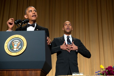 President Obama at the White House Correspondents' Association Dinner with Actor Keegan-Michael Key Photo