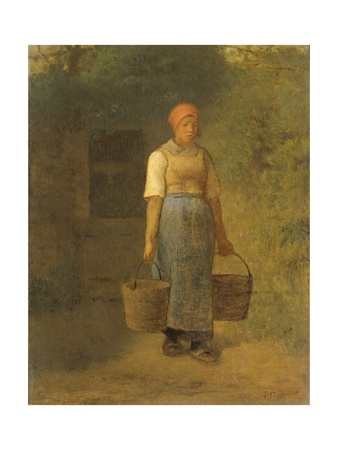 Girl Carrying Water, C. 1855-60 Giclee Print by Jean Francois Millet
