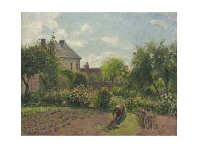 The Artist's Garden at Eragny, 1898 Giclee Print by Camille Pissarro