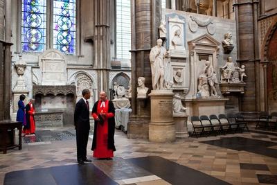 President Barack Obama and First Lady Michelle Obama Visit Poets' Corner Photo