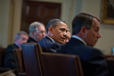 President Obama Meets with Bipartisan House and Senate Leadership, April 13, 2011 Photo