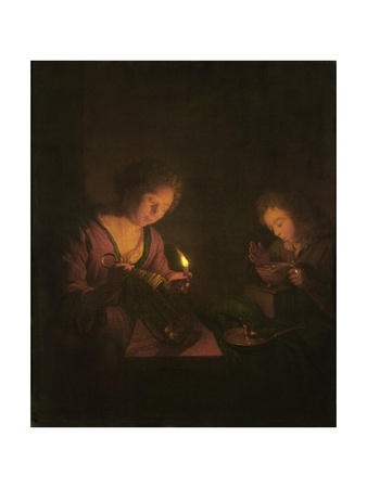Fire and Light, 1690-1706 Giclee Print by Godfried Schalcken
