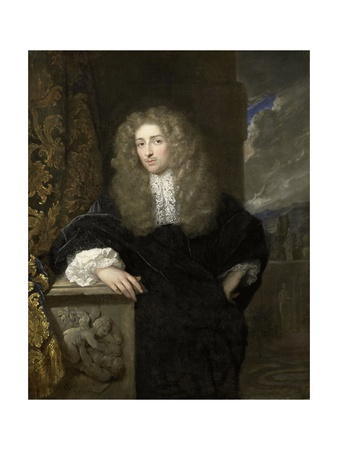 Portrait of a Man, Possibly of the Van Citters Family, 1678 Giclee Print by Caspar Netscher