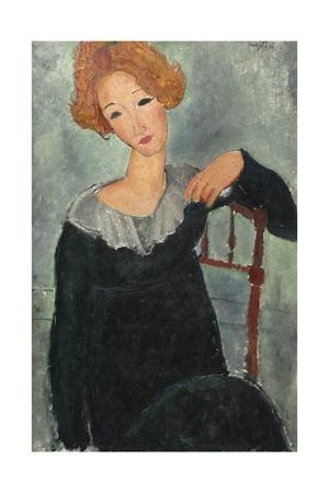 Woman with Red Hair, 1917 Stampa giclée di Amedeo Modigliani