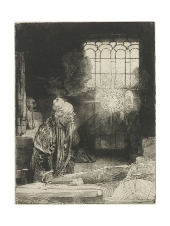 A Scholar in His Study, 1650-54 Giclee Print by  Rembrandt van Rijn