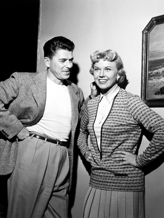 The Winning Team, from Left, Ronald Reagan, Doris Day, On-Set, 1952 Photo