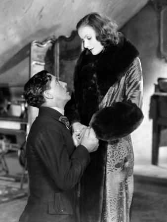 The Divine Woman, from Left, Lars Hanson, Greta Garbo, 1928 Photo