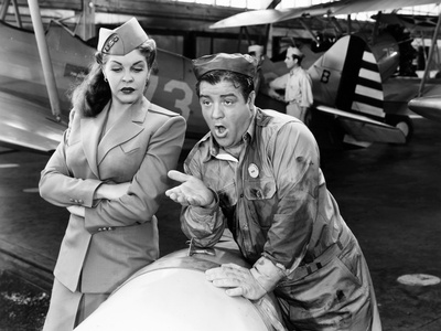 Keep 'Em Flying, from Left, Martha Raye, Lou Costello, 1941 Photo